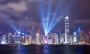 Symphony of Lights show in Hong Kong